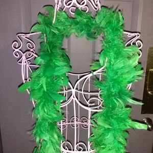 Feather Boa Green 72 inches